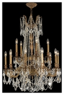 Worldwide W83310FG28 Windsor French Gold 28 Inch Diameter 15 Candle Lighting Chandelier