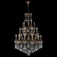 Worldwide W83352B36 Versailles Antique Bronze Finish 36  Wide Hanging Chandelier