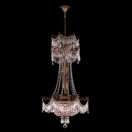 Worldwide W83355B20-CL Winchester Crystal Antique Bronze Finish 34  Tall Mini Chandelier Light