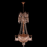 Worldwide W83355FG20-GT Winchester Crystal French Gold Finish 20  Wide Mini Chandelier Lighting