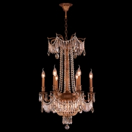 Worldwide W83356FG20-GT Winchester Crystal French Gold Finish 29  Tall Mini Hanging Chandelier