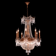 Worldwide W83356FG24-CL Winchester Crystal French Gold Finish 24  Wide Chandelier Light