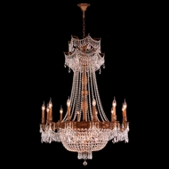 Worldwide W83356FG36-CL Winchester Crystal French Gold Finish 36  Wide Lighting Chandelier