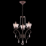 Worldwide W83360DB12-CL Gardenia Dark Bronze Clear Mini Ceiling Chandelier