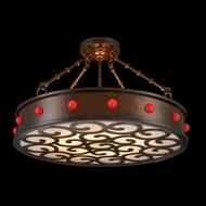 Worldwide W83363B24 Bastille Antique Bronze Frosted 24  Ceiling Lighting Fixture
