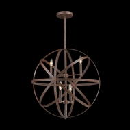 Worldwide W83369F24 Geo Modern Flemish Brass 24  Pendant Lighting Fixture