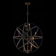Worldwide W83370F36 Geo Contemporary Flemish Brass 36  Hanging Pendant Lighting