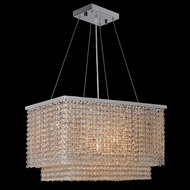 Worldwide W83752C20 Prism Polished Chrome Clear 20 Drop Ceiling Lighting