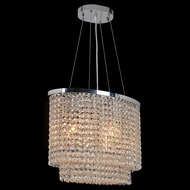 Worldwide W83760C16 Prism Polished Chrome Clear 16 Ceiling Pendant Light