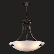 Worldwide W83804F16 Pompeii Flemish Brass Finish 16  Wide Pendant Light