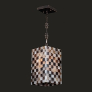 Worldwide W83822F6 Pompeii Contemporary Flemish Brass Mini Pendant Light