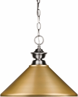 Z-Lite 100701BN-MSG Brushed Nickel Pendant Lighting