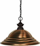 Z-Lite 100701BRZ-SAC Shark Bronze Stepped Antique Copper Hanging Lamp