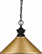 Z-Lite 100701MB-MSG Matte Black Pendant Light