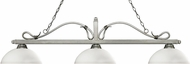 Z-Lite 114-3AS-DMO14 Melrose Antique Silver Dome Matte Opal Island Lighting