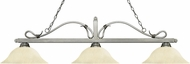 Z-Lite 114-3AS-GM16 Melrose Antique Silver Golden Mottle Kitchen Island Light