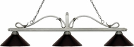 Z-Lite 114-3AS-MBRZ Melrose Antique Silver Bronze Kitchen Island Light Fixture