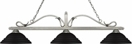 Z-Lite 114-3AS-SMB Melrose Antique Silver Stepped Matte Black Kitchen Island Light