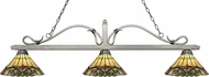 Z-Lite 114-3AS-Z14-49 Melrose Antique Silver Multi Colored Tiffany Kitchen Island Light Fixture