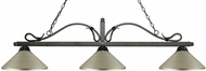 Z-Lite 114-3GB-MAS Melrose Golden Bronze Antique Silver Kitchen Island Light Fixture