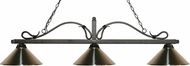 Z-Lite 114-3GB-MBN Melrose Golden Bronze Brushed Nickel Island Lighting