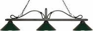 Z-Lite 114-3GB-MDG Melrose Golden Bronze Dark Green Kitchen Island Light