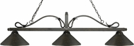 Z-Lite 114-3GB-MGB Melrose Golden Bronze Golden Bronze Kitchen Island Light Fixture