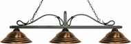 Z-Lite 114-3GB-SAC Melrose Golden Bronze Stepped Antique Copper Island Lighting