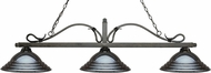 Z-Lite 114-3GB-SGM Melrose Golden Bronze Stepped Gun Metal Kitchen Island Light