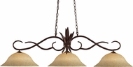 Z-Lite 129BRZ-GM16 Chicago Bronze Golden Mottle Island Lighting