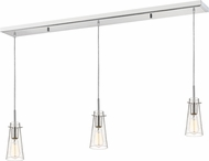 Z-Lite 132MP-3CH Monte Contemporary Chrome Clear Seedy Multi Pendant Lighting Fixture