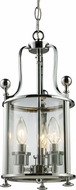 Z-Lite 134-3 Wyndham Chrome 17.75  Tall Foyer Light Fixture