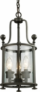 Z-Lite 135-3 Wyndham Bronze 17.75  Tall Foyer Light Fixture