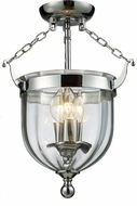Z-Lite 137SF Warwick Chrome 10.5  Wide Flush Lighting