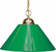 Z-Lite 155-1PB-PGR Pendant Lights Polished Brass 14  Wide Ceiling Pendant Light