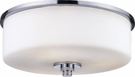 Z-Lite 163F-2 Ibis Chrome 11  Wide Flush Mount Ceiling Light Fixture