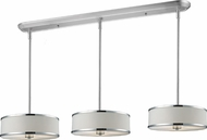 Z-Lite 164-16-3 Cameo Chrome 60  Tall Multi Drum Drop Lighting
