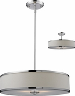 Z-Lite 164-20 Cameo Chrome 53.5  Tall Drum Drop Ceiling Lighting / Ceiling Fixture