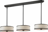 Z-Lite 165-16-3 Cameo Cr�me/Bronze 16  Wide Multi Drum Lighting Pendant