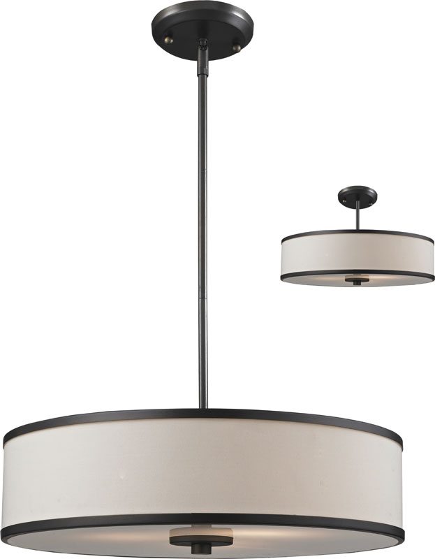 Z Lite 165 20 Cameo Crème Bronze 19 5 Nbsp Wide Drum Pendant Lamp Loading Zoom