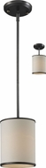Z-Lite 165-6 Cameo Cr�me/Bronze 6  Wide Mini Hanging Light / Flush Mount