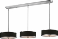 Z-Lite 168-16-3 Cameo Chrome 60  Tall Multi Drum Hanging Light