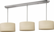 Z-Lite 171-16-3C Albion Brushed Nickel 60  Tall Multi Drum Ceiling Pendant Light