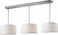 Z-Lite 171-16-3W Albion Brushed Nickel 16  Wide Multi Drum Drop Ceiling Light Fixture