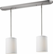 Z-Lite 171-6-2W Albion Brushed Nickel 6  Wide Multi Pendant Hanging Light