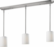 Z-Lite 171-6-3W Albion Brushed Nickel 48  Tall Multi Drop Ceiling Lighting