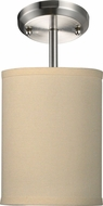 Z-Lite 171-6C-SF Albion Brushed Nickel 11.5  Tall Ceiling Light Fixture