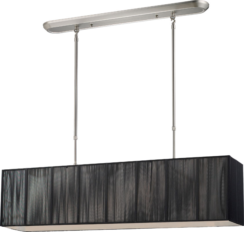 173 36bk nc casia modern brushed nickel kitchen island light fixture
