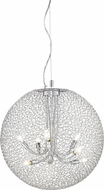 Z-Lite 175-24 Saatchi Modern Chrome 24  Wide Pendant Light