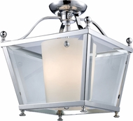 Z-Lite 178-3SF-M Ashbury Chrome 12.25  Wide Flush Mount Light Fixture